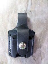 ZIPPO Genuine Leather Briquet Pouch avec boucle - Noir - NEUF - 010472