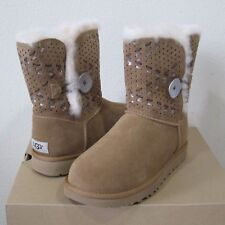 UGG Bailey Button Tehuano Suede Sheepskin Boots