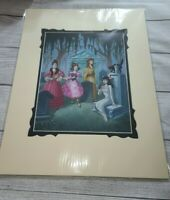 Disney Parks Haunted Mansion Haunted Ladies of Larry Nikolai Deluxe Print NEW