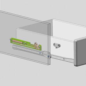 Einzugsdämpfer OPTIFIT - für Schubkästen und Auszüge - 2er-Set - Weiß