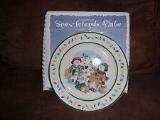 Longaberger Snow Friends Flurry & Snowball Plate - Made in Usa