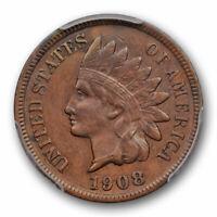 1908 S 1C Indian Head Cent PCGS XF 40 Extra Fine Key Date San Francisco Mint ...