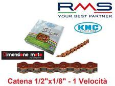 Catena KMC 1/2'x1/8' S1 112 maglie lunghezza Spina 8 6mm Arancio