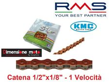 "0147 - Catena ""KMC"" S1 Color 1-Vel. 112 Maglie ARANCIO per Bici MTB Mountain Bik"