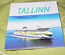 NEW TALLINK M/S MEGASTAR SHIP MAP OF TALLINN ESTONIA