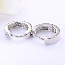 New Fashion White Gold Plated Hoop Earrings Silver Lucky Free Shipping Lot