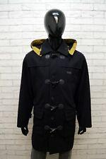 Giaccone Montgomery Paul & Shark Taglia XL Cappotto con Cappuccio in Lana Blu