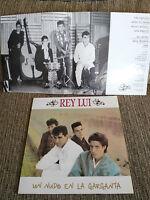 """REY LUI UN NUDO EN LA GARGANTA LP VINYL VINILO 12"""" 1988 VG/VG DRO SPANISH ED"""