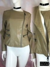 ✨MISS SIXTY M60 STUNNING LADIES FAUX LEATHER BROWN JACKET~SIZE M