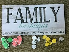 Family Birthday Plaque With Tags, Home Decor