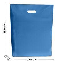 10 LARGE AZUL REY Bolsas de plástico boutique regalo tienda Bolsa 15x18+7.6cm