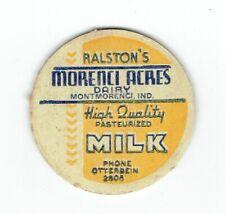 RALSTON'S DAIRY MILK BOTTLE CAP MONTMORENCI INDIANA IND IN dairy milk bottle cap