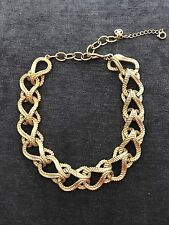 Vintage Gold French Rope Link Collar Necklace