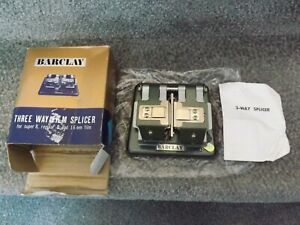 Barclay Three Way Film Splicer. For film editing. Made in Japan.