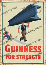 More details for guinness metal advertising sign plaque beer garden bar irish garage alcohol