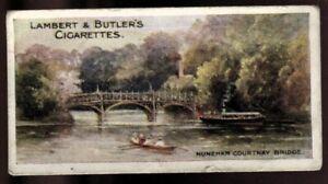 Tobacco Card, Lambert Butler, THAMES LECHLADE TO LONDON, 1907,Nuneham Bridge,#15