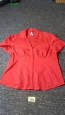 Ladies Red Blouse Size 18 From Next