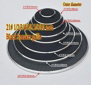 1pcs 21# 1/2/3/4/5/6.5/8/10 inch Black Speaker grille car horn decorative circle