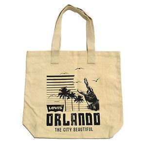 Levis Canvas Tote Bag Orlando City Beautiful Logo Beige Tan Cotton Reusable Nwot