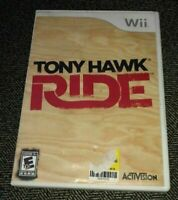 TONY HAWK RIDE - Wii - COMPLETE WITH MANUAL - FREE S/H - (TT)