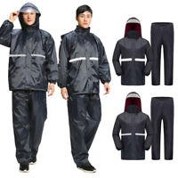 Unisex Thicken Motorcycle Riding Raincoat Rain Pants Outdoor Reflective Clothes