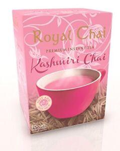 Royal Chai Instant Tea Powder Sachets  Kashmiri Pink (Green) PISTACHIOS  Flavour