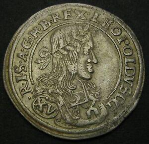 AUSTRIA 15 Kreuzer 1661 - Silver - Leopold I. - F/VF - 1377