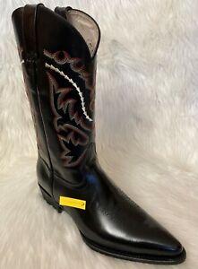 Pistolero Boots / Camaleon Finish / Black Leather / Pointed Toe / 11 EE /Damaged