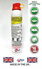 Fire Extinguisher -600ml Foam- Ideal for Kitchens, BBQ's & Deep Fat Fryers