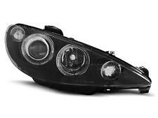 LED Angel Eyes Scheinwerfer Set Schwarz Peugeot 206 206CC CC 1998-2002