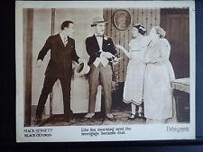 1924 BLACK OXFORDS - MARCELINE DAY LOBBY CARD - MACK SENNETT - EXC. COND. SILENT