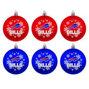 NFL Buffalo Bills Tree Balls 6-teiliges Ornament Set Christmas
