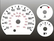 2006-2007 Ford Focus METRIC KMH KPH Dash Cluster White Face Gauges