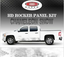 "Hex Snow Camo Rocker Panel Graphic Decal Wrap Truck SUV - 12"" x 24FT"