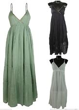 Markenlose Damenkleider mit V-Ausschnitt aus Baumwolle