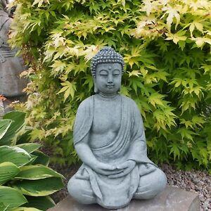 Steinfigur frostfester antiker großer Stein Buddha Shiva Steinguss Gartenfigur