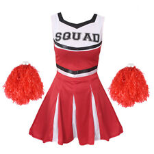 CHEERLEADER FANCY DRESS COSTUME ADULTS CHEER UNIFORM OUTFIT HIGH SCHOOL SPORT