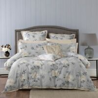 Bianca Rosetta Quilt Cover Set Grey