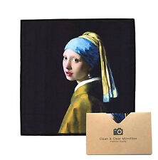 """LARGE[2 Pack](""""Girl with a Pearl Ear"""") - ULTRA PREMIUM QUALITY Microfiber Cloths"""