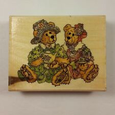 Emma and Bailey Afternoon Tea H21029 Boyds Collection Uptown Rubber Stamps Prim