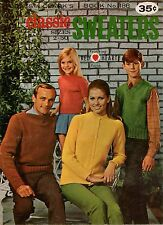 Coats Clark 186 Classic Sweaters Sizes 2 to 50 Knitting Patterns Family 1968