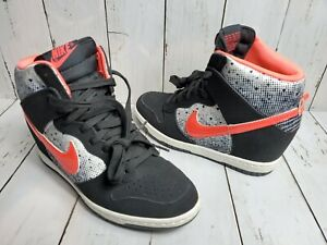 Nike Dunk Sky HI Wedge Queen of Heart Crimson WMNS Us Sz 6.5 Shoes 631364-006