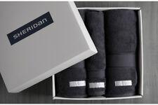 Sheridan Luxury Egyptian Towel Gift Set Graphite 2 x Queen Towels,1 x Hand Towel