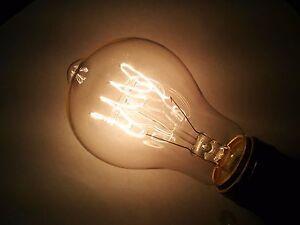 (6 pack) Simple Vintage A19 Edison Light Bulb E26 40W 120V Antique Retro Clear