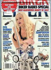 Biker Magazine December 2007 Evil Bobber EX Sealed 082716jhe