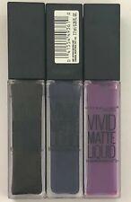 (3) Maybelline Color Sensational Vivid Matte Liquid Lipstick, 50, 45, and 48