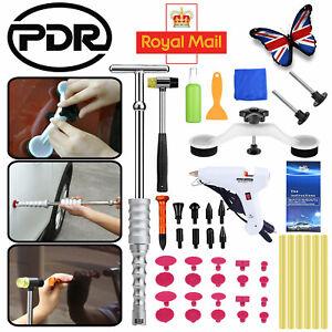 Auto Body Paintless Dent Repair Slide Hammer T-bar Set PDR Tools Glue Puller Kit