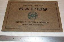 Stiffel & Freeman Safe Catalog 1890s-1910 Philadelphia Pa Lititz Herring Farrel