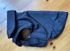 Dog / Puppy Soft Fleece Lined Black Raincoat Jacket Size S (Small)