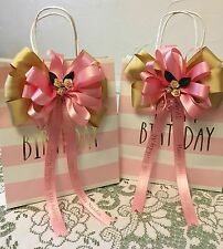 Personalised Ribbon BOW for gifts cake flowers Christmas Birthday Wedding etc